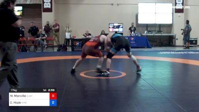77 kg 3rd Place - Mason Manville, Nittany Lion Wrestling Club vs Corey Hope, NYAC