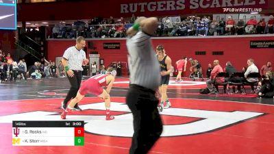 149 lbs Quarterfinal - Graham Rooks, Indiana vs Kanen Storr, Michigan