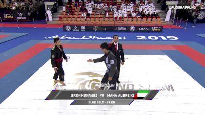 Jerson Rodriguez Hernandez vs Mana Albreiki 2019 Abu Dhabi Grand Slam Abu Dhabi