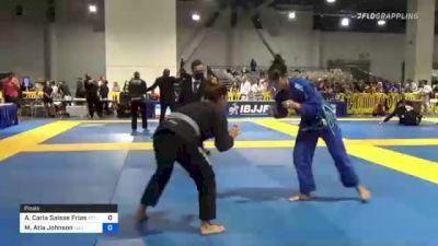 Ana Carla Saisse Frias vs Maylean Atla Johnson 2021 American National IBJJF Jiu-Jitsu Championship