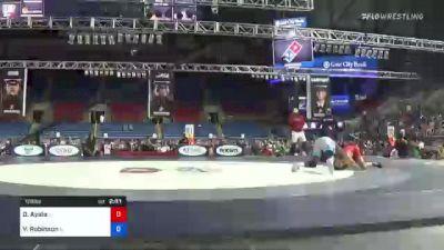 126 lbs Semifinal - Drake Ayala, Iowa vs Vincent Robinson, Illinois