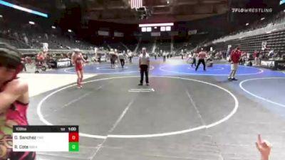 109 lbs 3rd Place - Ridge Cote, Ronan vs Dominic Sanchez, Pinedale Pummelers
