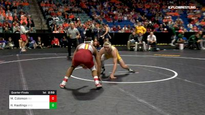 174 lbs Quarterfinal - Marcus Coleman, Iowa State vs Hayden Hastings, Wyoming
