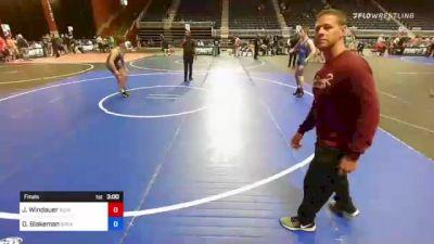 145 kg Final - Justin Windauer, Ruis Wrestling vs Oakley Blakeman, Spearfish Spartan Wrestling