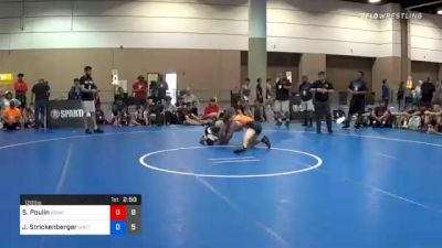 120 lbs Final - Stevo Poulin, Team Kong United vs Jett Strickenberger, Team Shutt