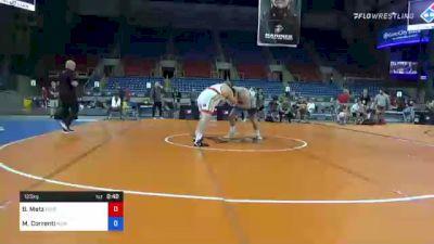 125 kg Quarterfinal - Brandon Metz, Bison Wrestling Club vs Mauro Correnti, New York Athletic Club