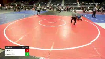 132 lbs 3rd Place - Darly Mills, Sierra WC vs Jalen Vladic, Darkhorse WC