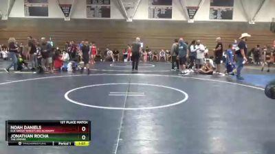 157 lbs 1st Place Match - Noah Daniels, Elk Grove Wrestling Academy vs Jonathan Rocha, The Empire