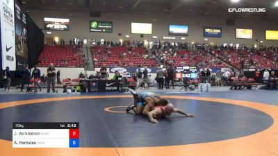 70 kg Rnd Of 16 - Jarod Verkleeren, Nittany Lion Wrestling Club vs Alec Pantaleo, Michigan