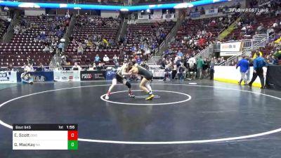 152 lbs Prelims - Ed Scott, DuBois vs Grant MacKay, North Allegheny