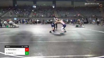 165 lbs Quarterfinal - Jake Richardson, Clackamas vs Keaton Geerts, Iowa Central