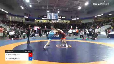 65 kg 5th Place - Jakob Bergeland, Gopher Wrestling Club - RTC vs Henry Pohlmeyer, Wisconsin Regional Training Center