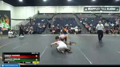 160 lbs Champ. Round 2 - Andrew Beeler, South Carolina vs Darius Marines, Michigan