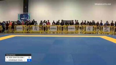 MAX DOS SANTOS GIMENIS vs LEONARDO HENRIQUE D'AVILA CORRÊA 2020 IBJJF Pan No-Gi Championship