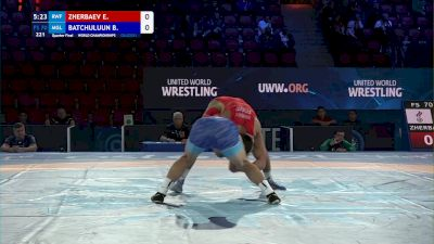 70 kg 1/4 Final - Evgenii Zherbaev, Russian Wrestling Federation vs Batmagnai Batchuluun, Mongolia
