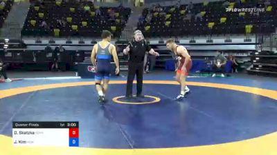 79 kg Quarterfinal - Devin Skatzka, Gopher Wrestling Club - RTC vs Joshua Kim, New England Regional Training Center