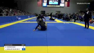 ADAM WARDZINSKI vs JOAO ARAUJO SILVA DA COSTA 2021 World IBJJF Jiu-Jitsu No-Gi Championship