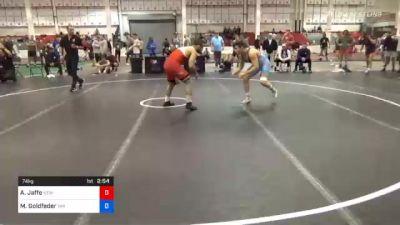 74 kg Prelims - Aj Jaffe, New England Regional Training Center vs Michael Goldfeder, Tar Heel Wrestling Club