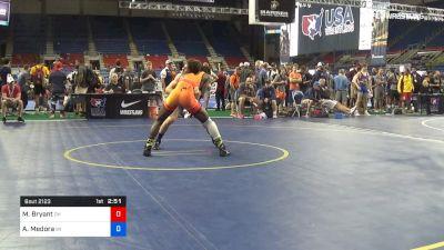 145 lbs Cons 16 #2 - Manzona Bryant, Ohio vs Aidan Medora, Wisconsin
