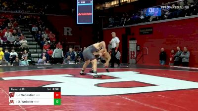 184 lbs Prelims - Johnny Sebastian, Wisconsin vs Owen Webster, Minnesota