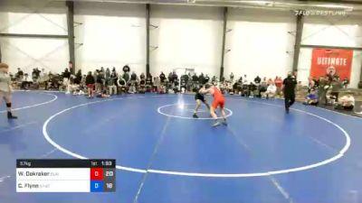 57 kg Quarterfinal - William Dekraker, Blairstown Wrestling Club vs Cooper Flynn, Team Shutt