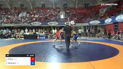 65 lbs Rr Rnd 1 - Jordan Oliver, Sunkist Kids Wrestling Club vs Frank Molinaro, Titan Mercury Wrestling Club (TMWC)