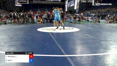 170 lbs Cons 8 #1 - Tanner Mendoza, Arizona vs Gavin Bell, Ohio