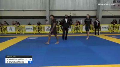 NICHOLAS RAYMOND SANDERS vs GESIAS CAVALCANTE SOUZA 2021 Pan IBJJF Jiu-Jitsu No-Gi Championship
