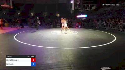 170 lbs 3rd Place - Derek Matthews, Idaho vs Caden Ernd, Illinois