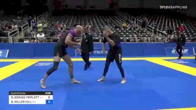 DANIEL ADRIAN TRIPLETT vs BUNKER MILLER HILL 2021 World IBJJF Jiu-Jitsu No-Gi Championship