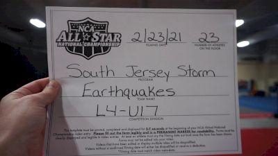 South Jersey Storm - Earthquakes [L4 - U17] 2021 NCA All-Star Virtual National Championship