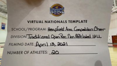 Hempfield Area Competition Cheer [Virtual Traditional Open Rec Non Affiliated 12 & Younger Finals] 2021 UCA National High School Cheerleading Championship