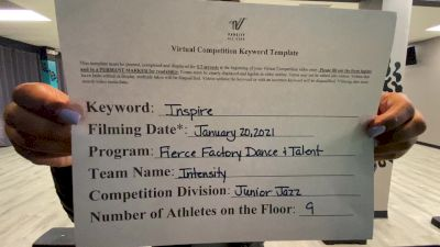 Fierce Factory Dance & Talent - Intensity [Junior - Jazz] 2021 GSSA DI & DII Virtual Championship