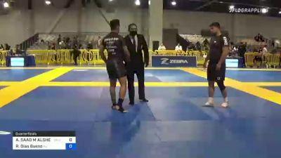 ABDULAZIZ SAAD M ALSHEHRI vs Renan Dias Bueno 2021 American National IBJJF Jiu-Jitsu Championship