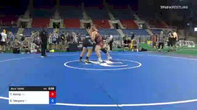 285 lbs Consi Of 8 #1 - Tristan Kemp, Massachusetts vs Ethan Vergara, Florida