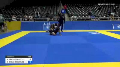 ADRIAN GARZA OVALLE vs CHRISTIAN SABAS GONZALEZ 2021 World IBJJF Jiu-Jitsu No-Gi Championship