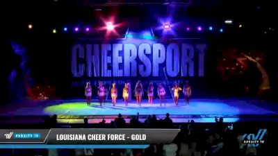 Louisiana Cheer Force - Gold [2021 L6 Senior Coed - XSmall Day 2] 2021 CHEERSPORT National Cheerleading Championship