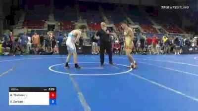 160 lbs Round Of 16 - Adam Thebeau, Illinois vs Vincent Zerban, Illinois