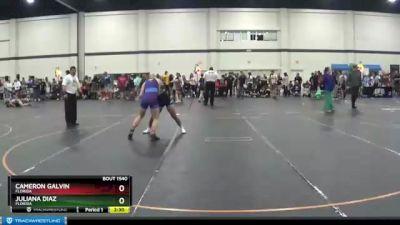 120 lbs 1st Place Match - Juliana Diaz, Florida vs Cameron Galvin, Florida