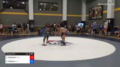 86 kg Prelims - Kodiak Stephens, Ebbetts Pass Wrestling vs Darrien Roberts, Oklahoma Regional Training Center
