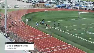 Youth Girls' 100m Hurdles, Finals 1 - Age 15-16