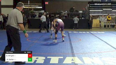 152 lbs 5th Place - Damon Wright, St. Benedict`s Prep vs Braeden Baller, All Saints Episcopal School