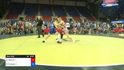 132 lbs Quarters - Kellyn March, South Dakota vs Brody Kemper, Michigan