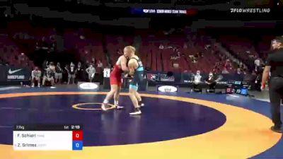 77 kg Semis - Fritz Schierl, Titan Mercury Wrestling Club vs Zachary Grimes, New York Athletic Club