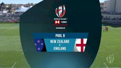 New Zealand 7s vs England 7s Pool B | 2018 HSBC Women's 7s Colorado