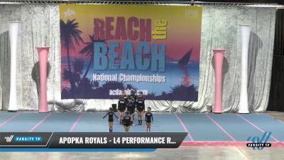 Apopka Royals - L4 Performance Recreation - 8-18 Years Old (NON) [2021 L4 Performance Recreation - 8-18 Years Old (NON)] 2021 Reach the Beach Daytona National