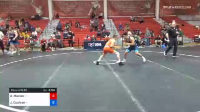 55 kg Consolation - Austin Macias, Southern Illinois Training Center vs Jacob Cochran, Florida