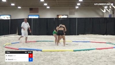 70 kg Round 2 - Kayla Weed, Unattached vs Ashley Sword, Valkyrie