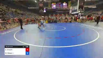 126 lbs Round Of 16 - Colby Crouch, Illinois vs Mason Gibson, Pennsylvania