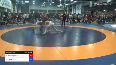 57 kg Prelims - Jaden Verhagen, Wisconsin vs Tristan Lujan, Michigan Wrestling CLub